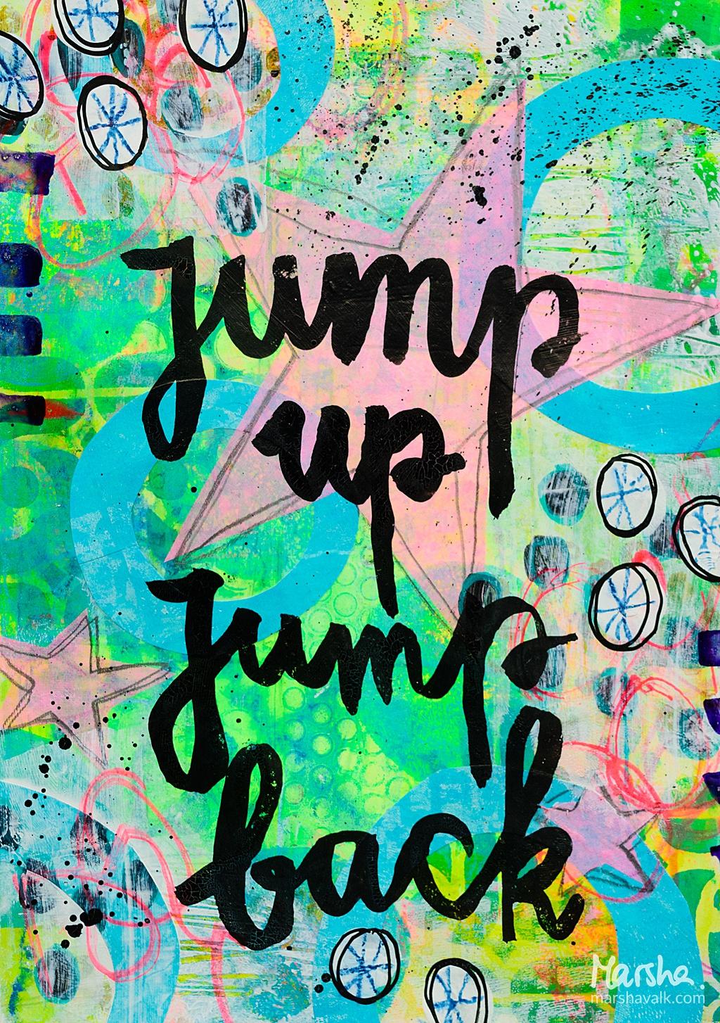 Marsha Valk | n*Studio: My Fire Burns Bright \ JumpUpJumpBack Art Journal Page