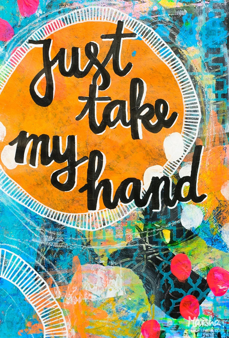 Marsha Valk | n*Studio: My Fire Burns Bright \ Just Take My Hand Art Journal Page