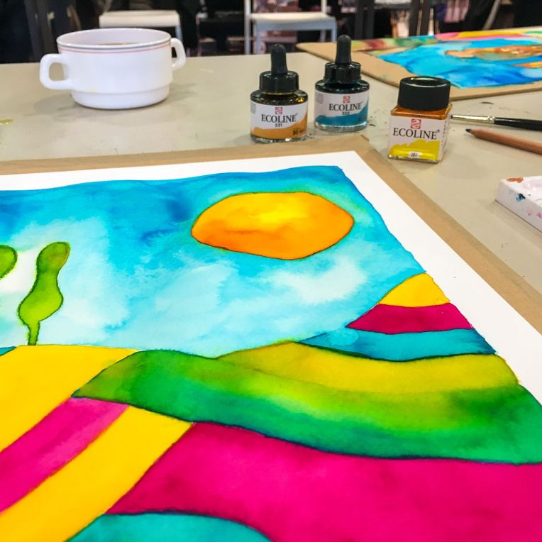 Marsha Valk   Inspired by - March 2018: Royal Talens Ecoline Workshop