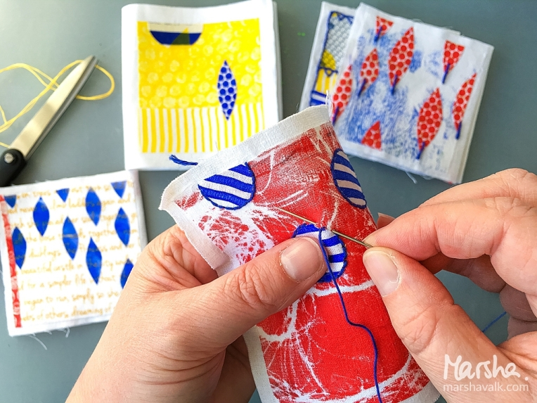 Marsha Valk   Inspired by - March 2018: Stitching