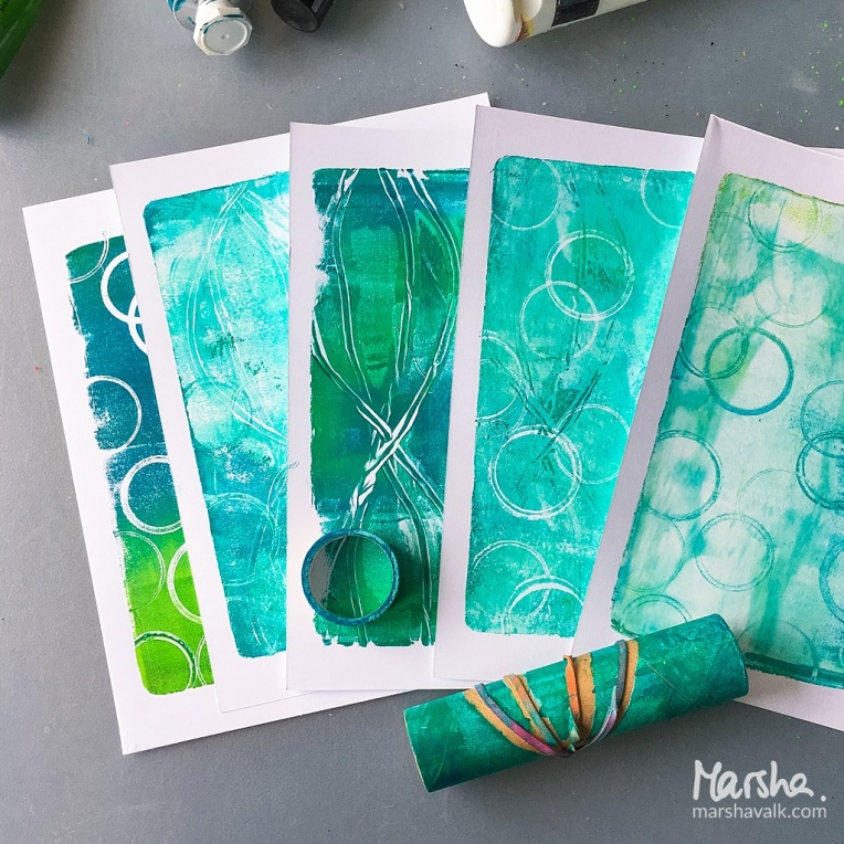 Marsha Valk | Inspired by - April 2018: Birgit Koopsen Gel Printing Challenge