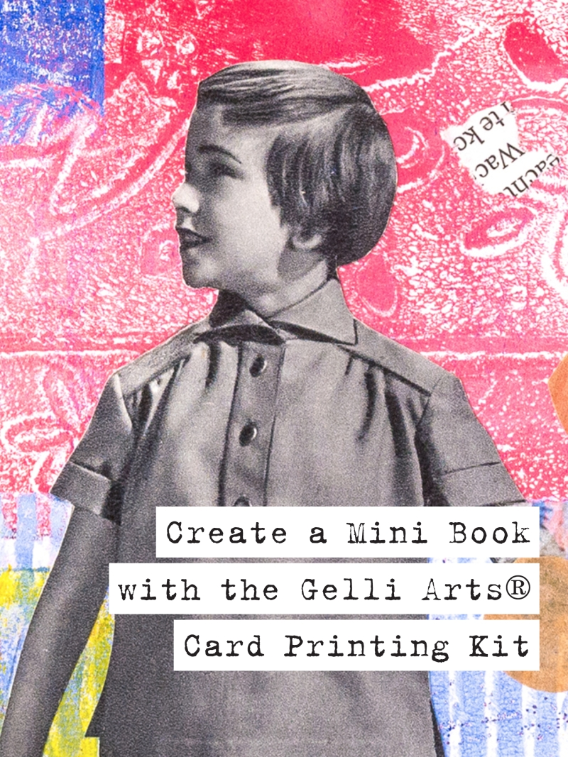Gelli Arts Mini Book Video Tutorial