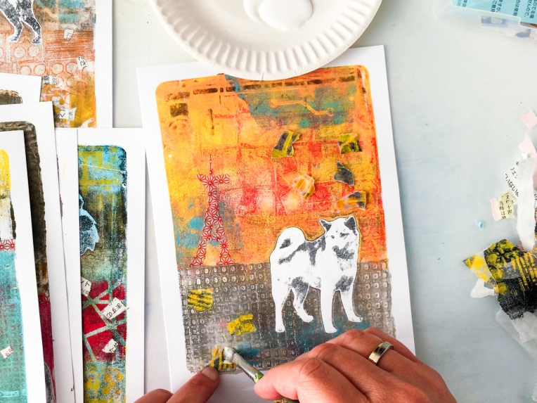 Marsha Valk | StencilGirl® Column: Themed Monoprints