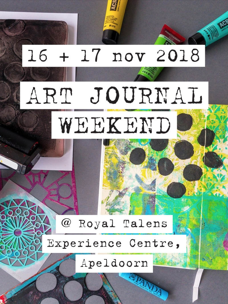 Royal Talens Experience Centre Art Journal Weekend 16 + 17 november 2018