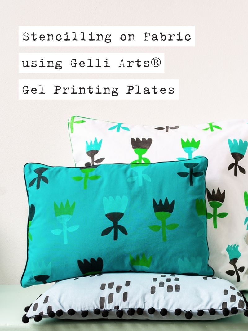 Marsha Valk | Gelli Arts® Stencilling on Fabric