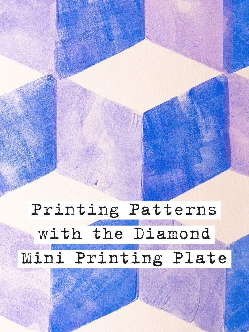 Marsha Valk | Gelli Arts®: Pattern Printing With The New Diamond Gelli Arts® Mini Printing Plate