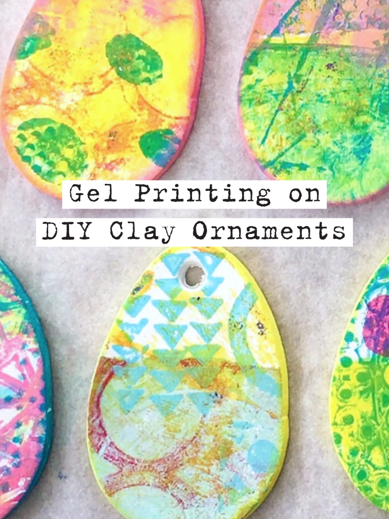 Marsha Valk | Gelli Arts®: Gel Printed DIY Clay Ornaments