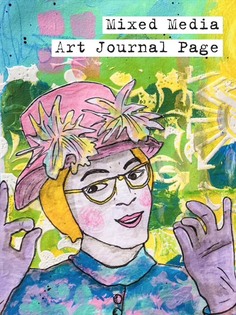 Marsha Valk | n*Studio: Little Mixe Media Art Journal Page Process Video