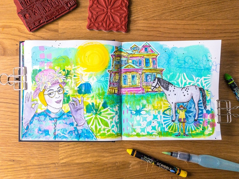 Marsha Valk | n*Studio: Pastel Dreams art journal page