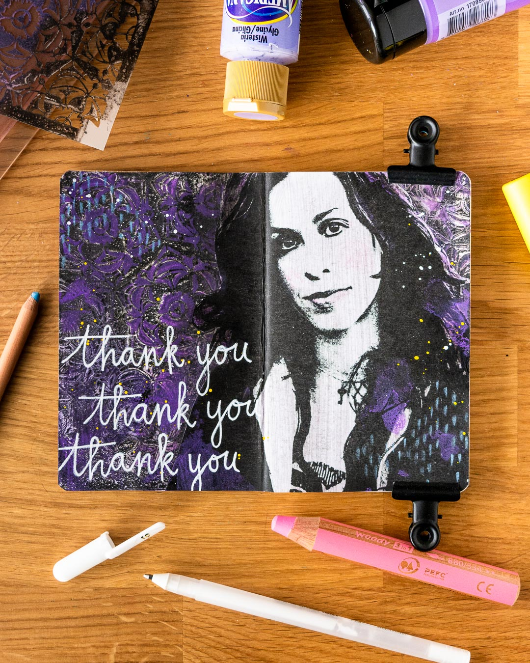 Marsha Valk | The Stencilfied Journal 2019 - Prompt 6 Thank You