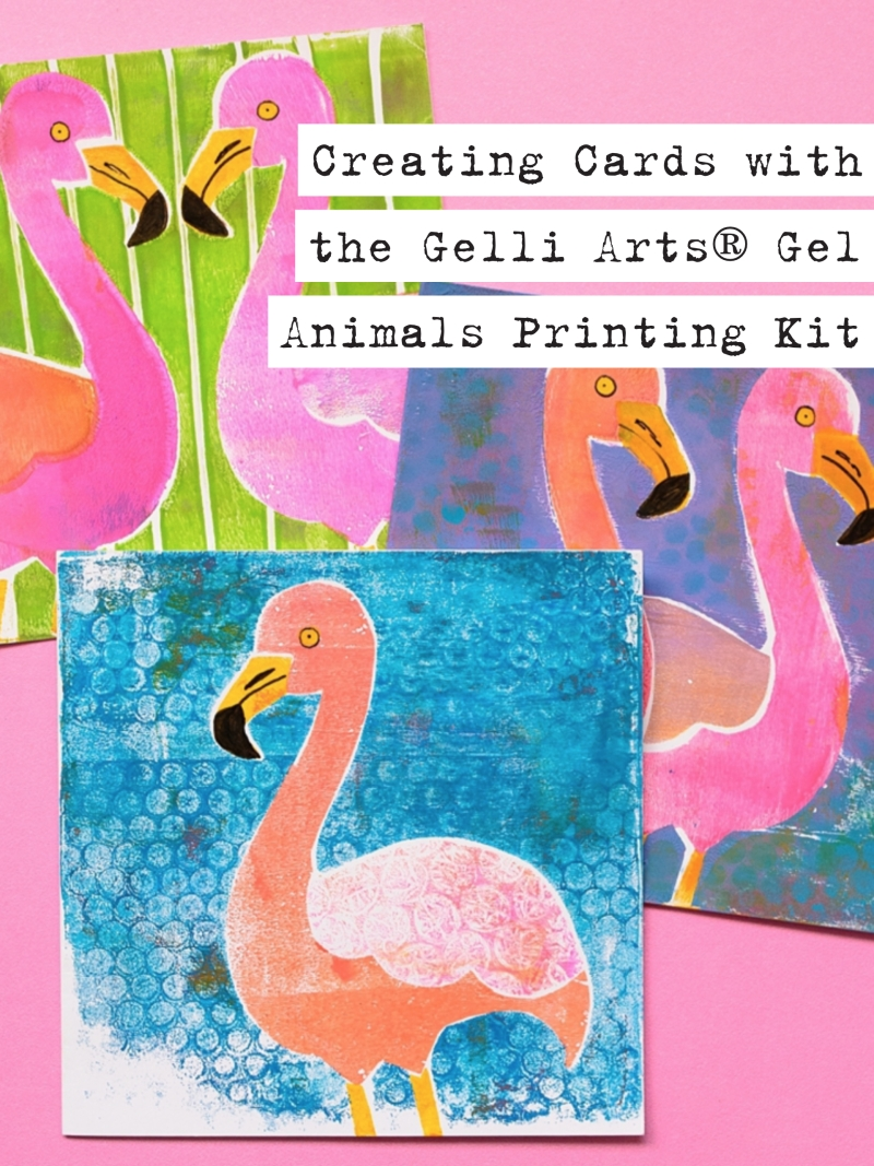 Marsha Valk | Gelli Arts®: Creating Cards with the Gel Animals Printing Kit