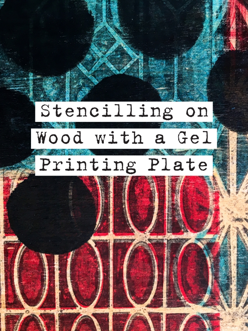 Marsha Valk | StencilGirl® Products: Wooden Box Stencilled