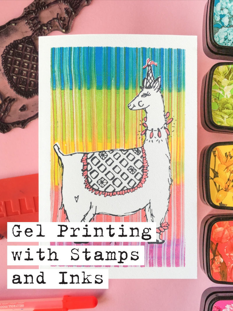 Printing with Clear + Rubber Stamps with Gelli Arts® by Marsha Valk