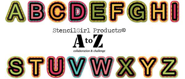 StencilGirl® Products A to Z Collaboration and Challenge