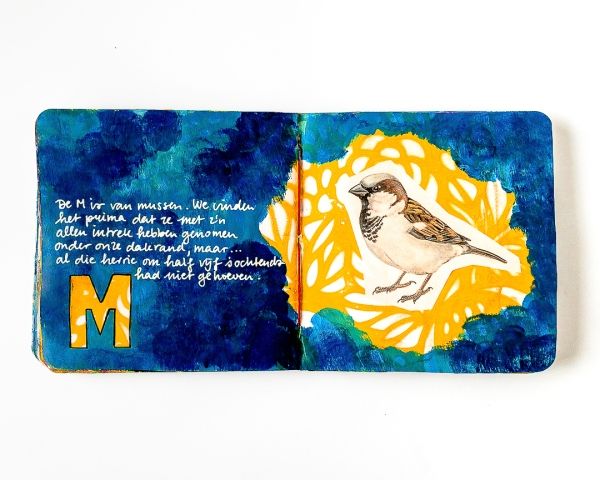 Marsha Valk StencilGirl® Products A to Z Collab and Challenge - M