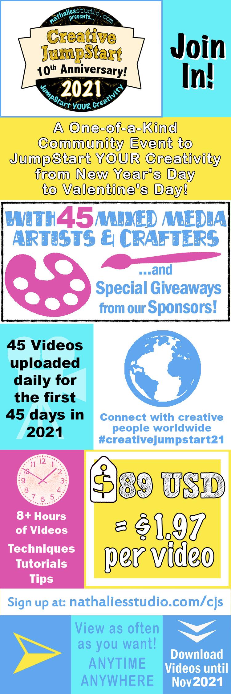 Creative JumpStart 2021 infographic