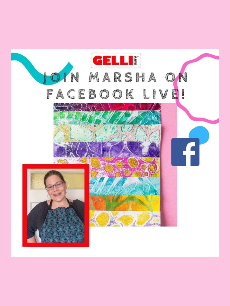Gelli Arts FB Live Marsha Valk