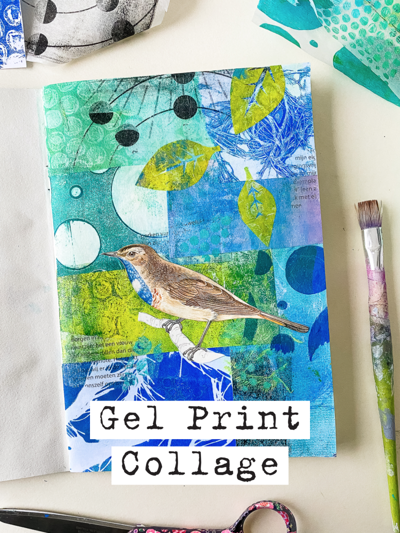 Collage with Gelli Arts® Gel Prints by Marsha Valk