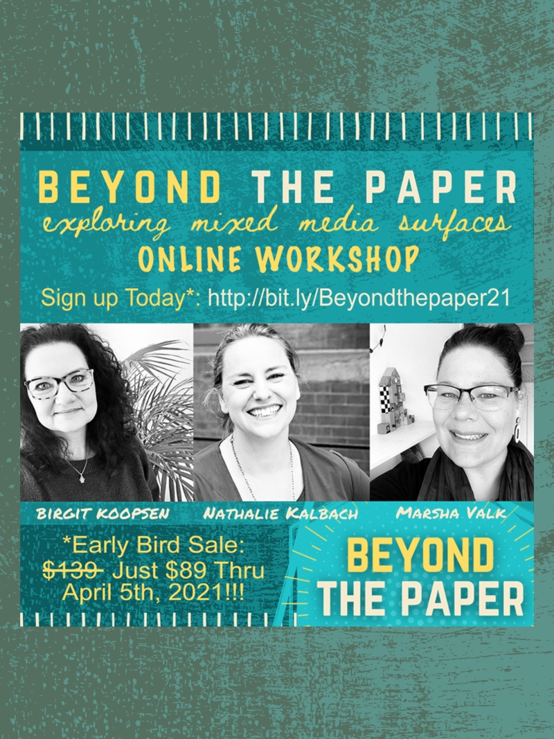 Beyond The Paper - Online Workshop with Birgit Koopsen, Nathalie Kalbach and Marsha Valk