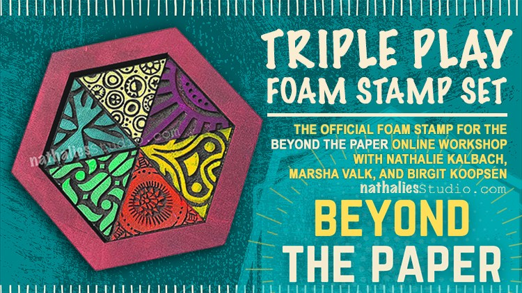 Beyond The Paper - MixeTriple Play Foam Stamp Set by Birgit Koopsen, Nathalie Kalbach and Marsha Valk