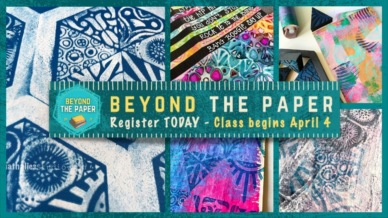 Beyond The Paper - Mixed Media Art Journaling Workshop with Birgit Koopsen, Nathalie Kalbach and Marsha Valk