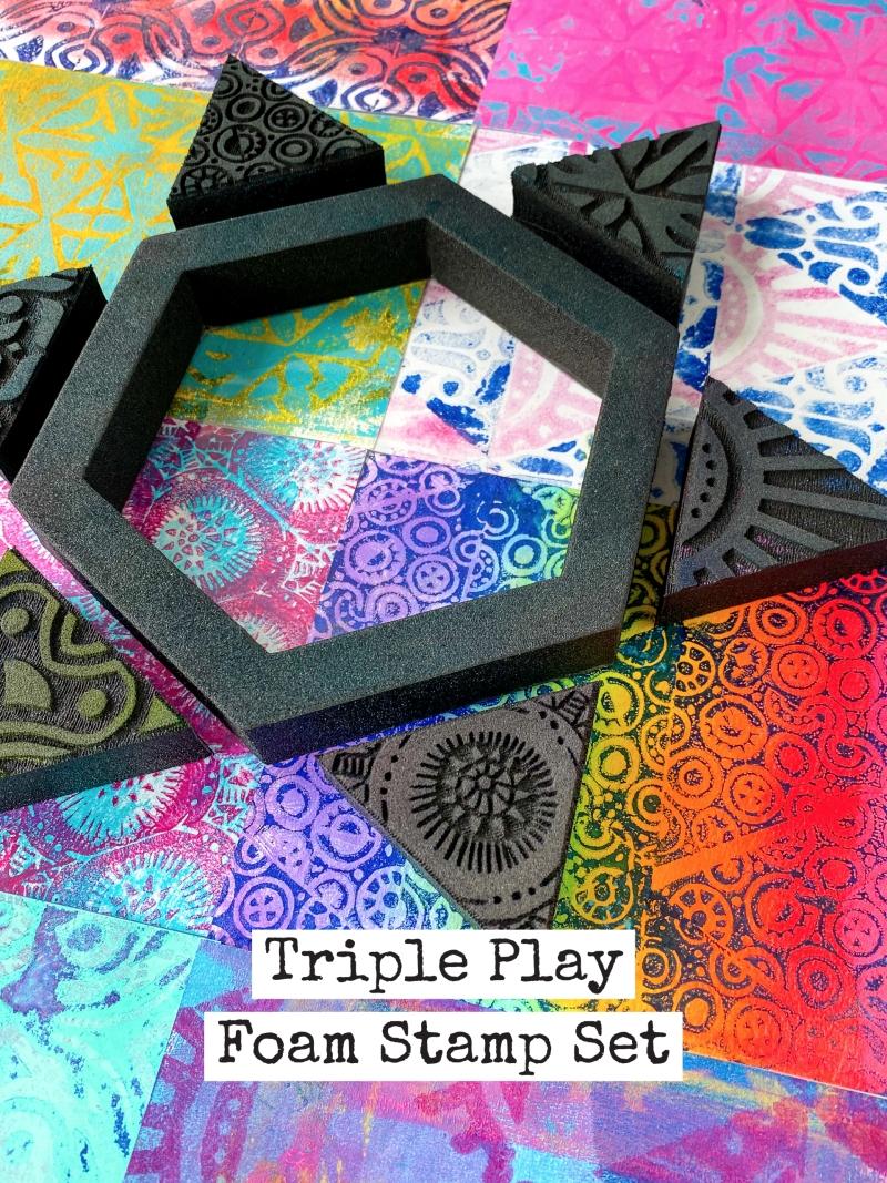 Triple Play Stamp Set by Nathalie Kalbach, Birgit Koopsen and Marsha Valk
