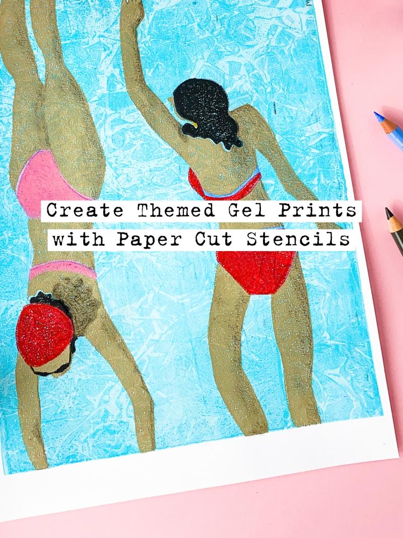 Marsha Valk | GelliArts: Create Themed Gel Prints With DIY Stencils