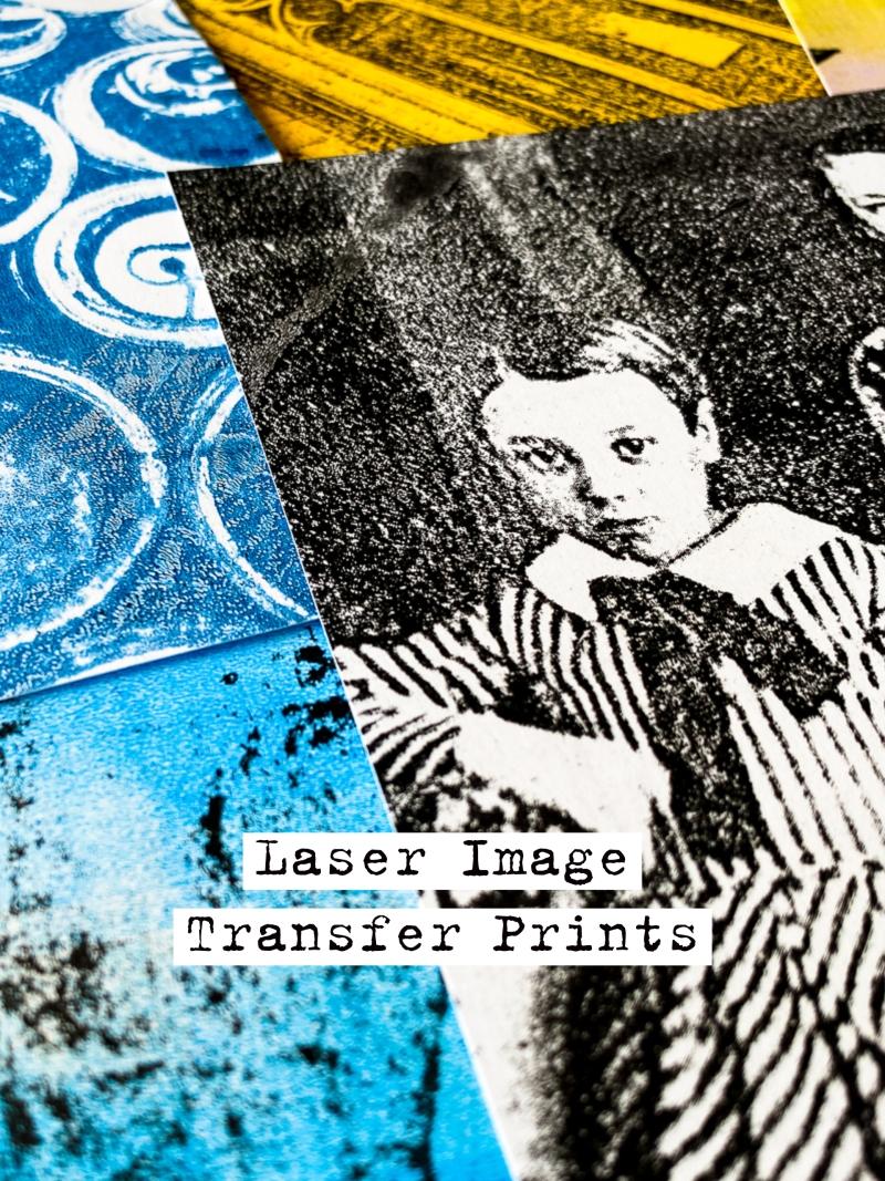 Laser Image Transfer Prints with Gelli Arts® by Marsha Valk